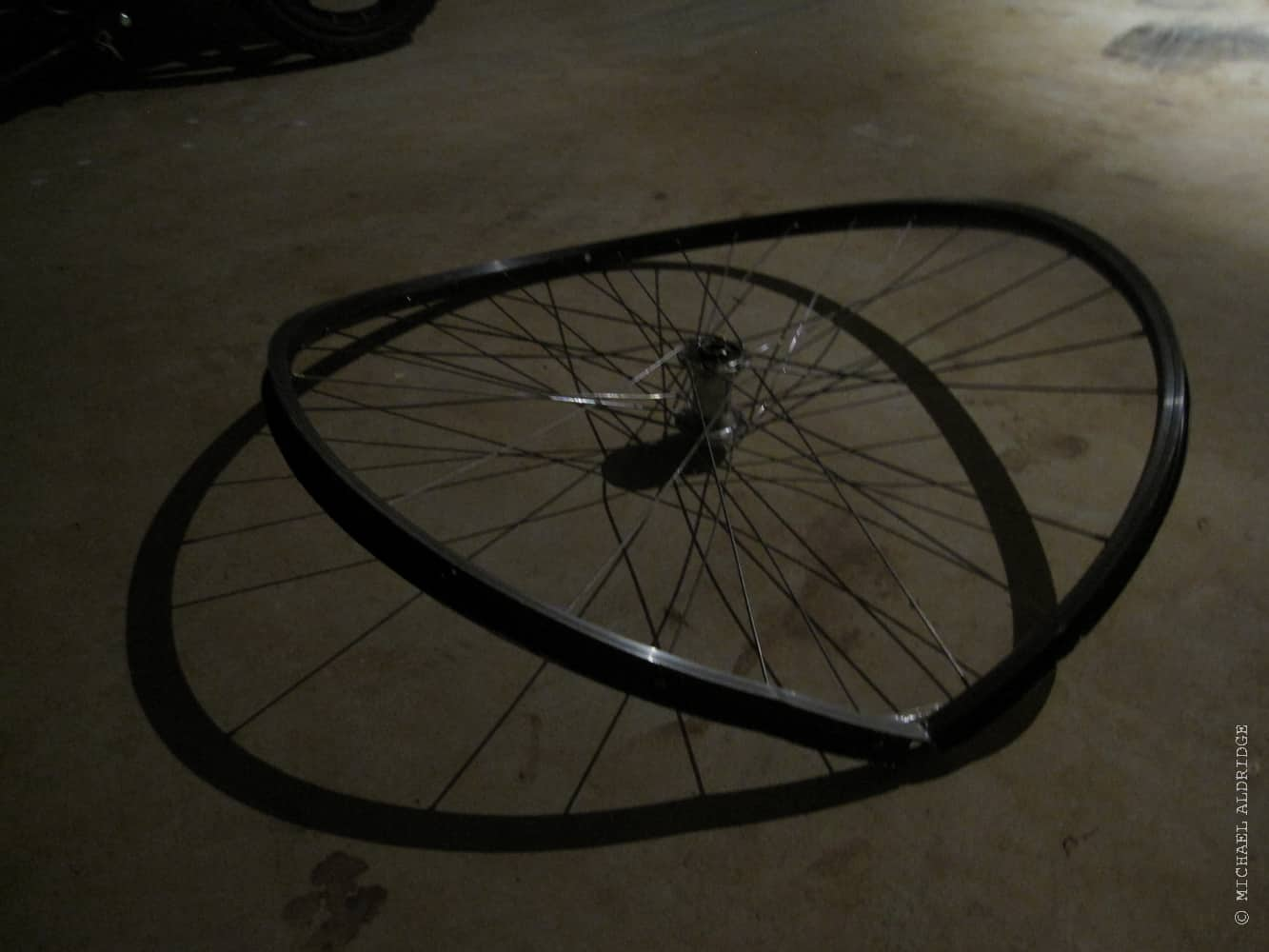 Broken Wheel on the bike
