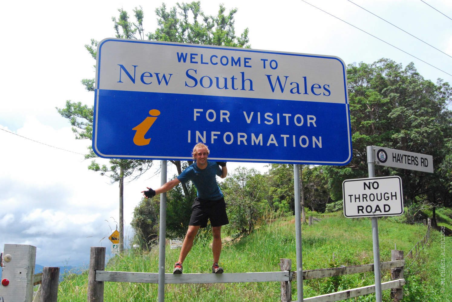 Crossing the New South Wales border