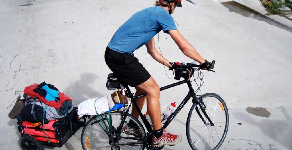 Michael at the end of his East Coast Bike Tour – AUSTRALIA
