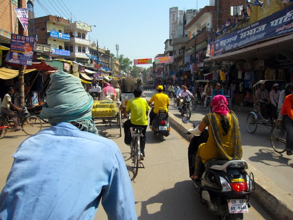 Traffic in Delhi, India