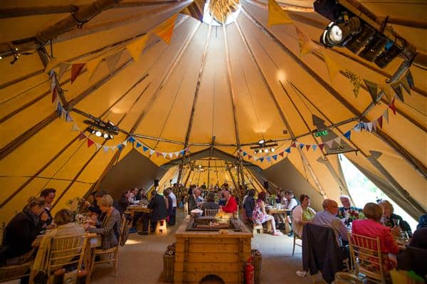 Highland Tipis Wedding Reception