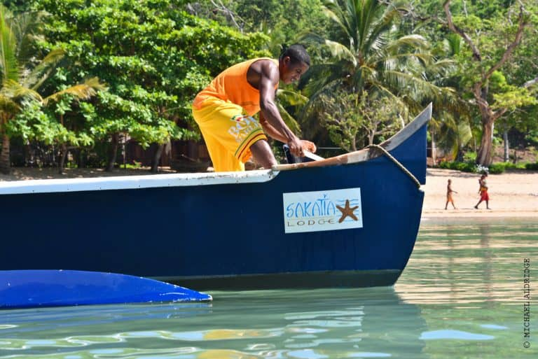 Water taxi on Nosy Be, Madagascar