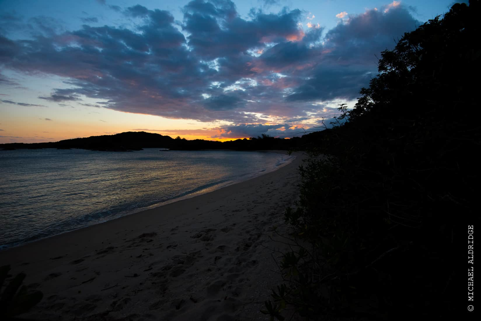 Sunset on beach in Madagascar