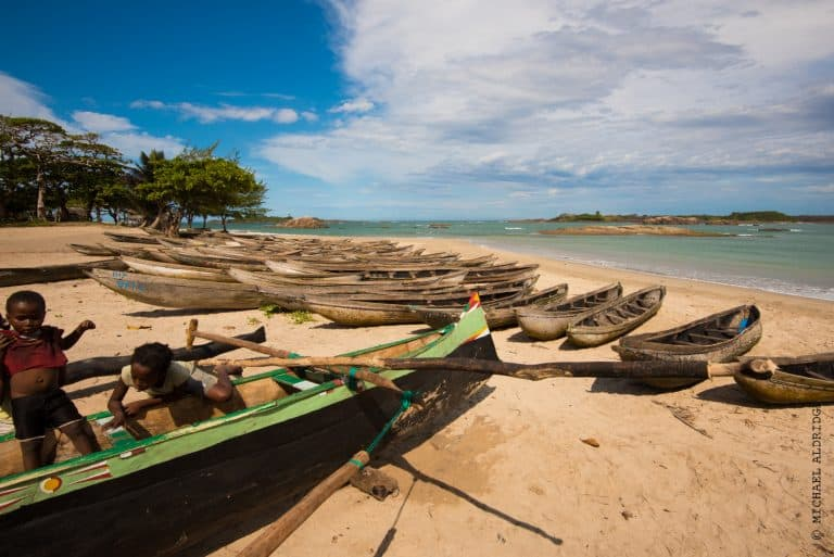 Fishing village in Madagascar