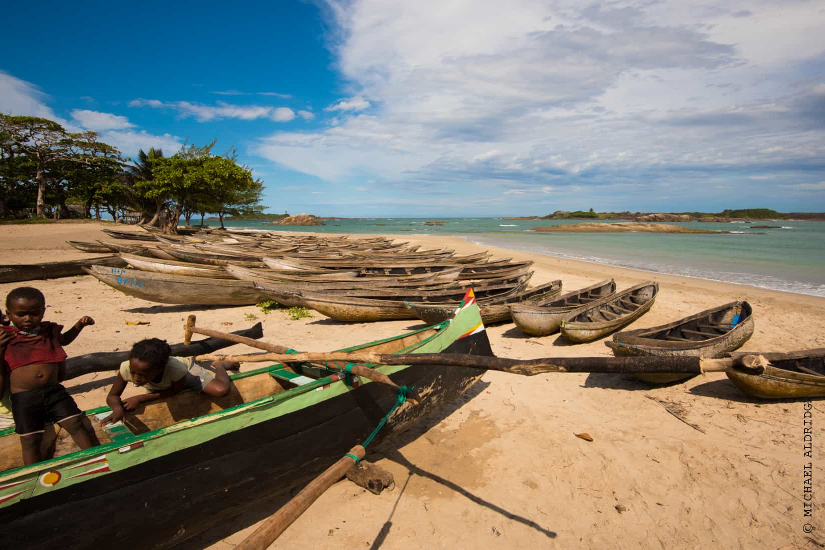 Fishing village in Madagascar