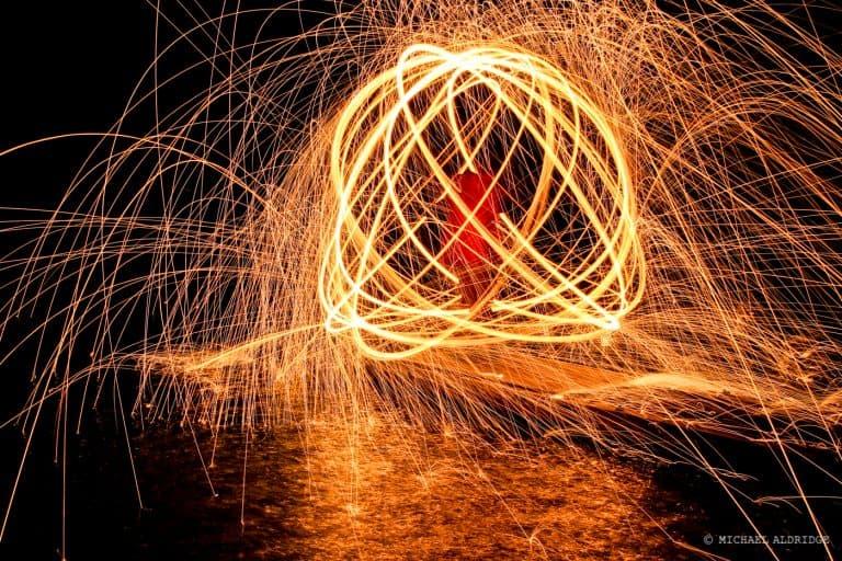 Wire Wool Fire Sphere