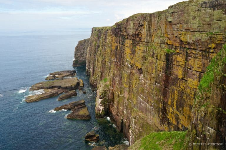 Rugged cliffs of the north west of Scotland