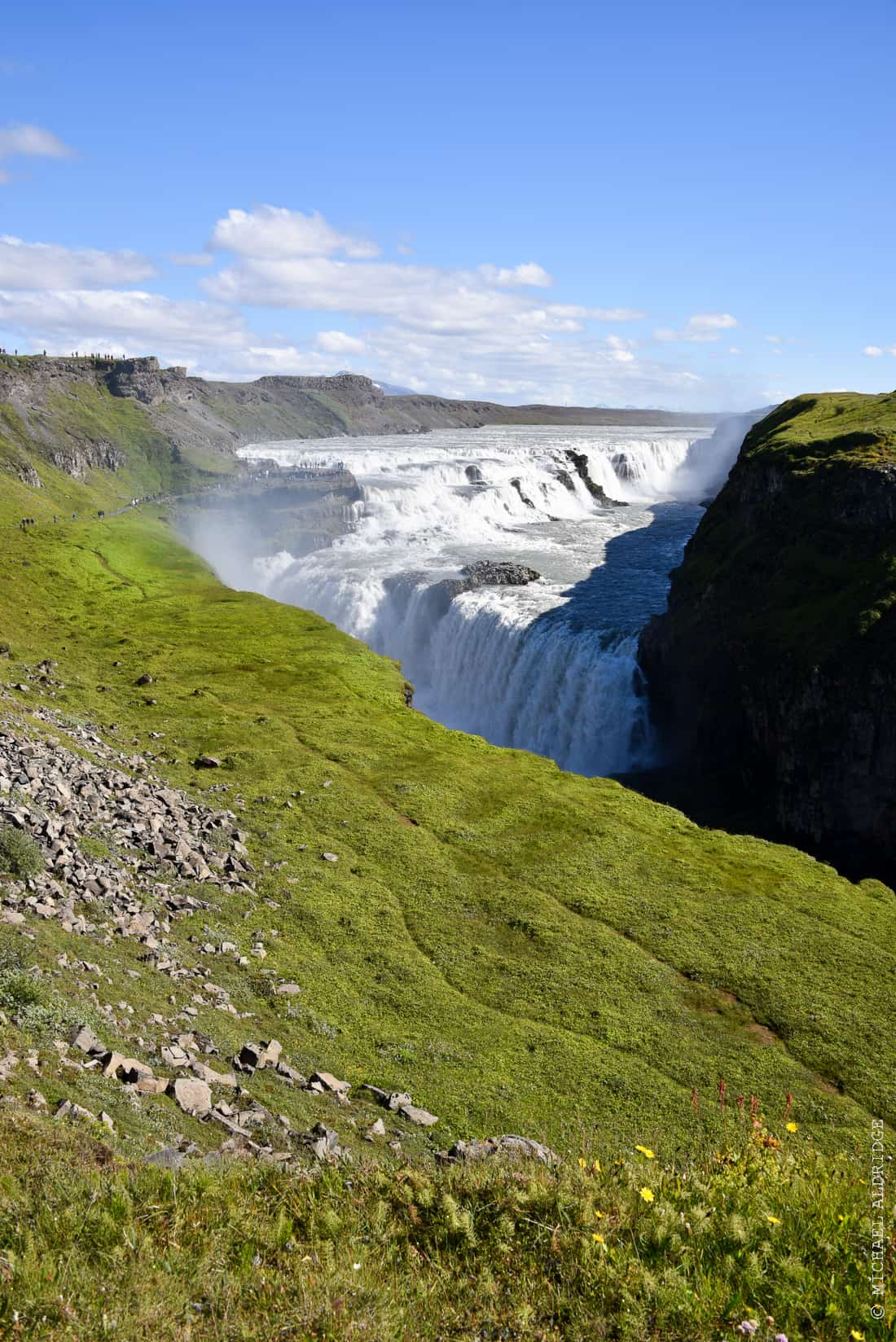 Turn a corner in Iceland and wow! Gullfoss Waterfall