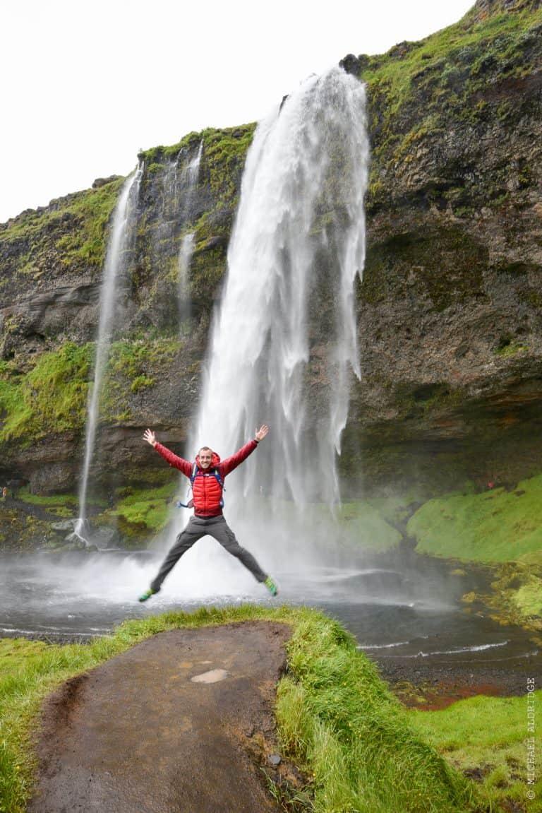 Michael at Seljalandsfoss Waterfall, Iceland