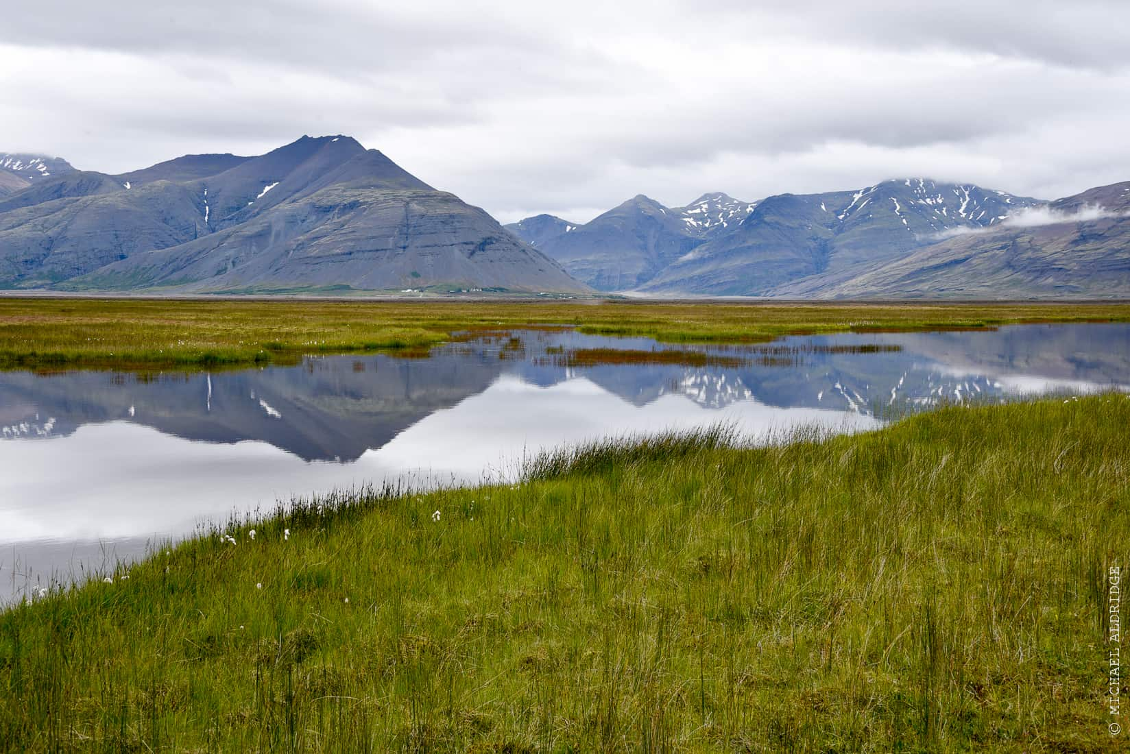 Reflections in Vatnajökull National Park, Iceland