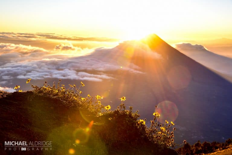 Acatenango Volcano Sunrise Meadow