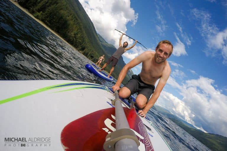 Paddleboarding with Michael, James and Dora in Salmon Arm, BC
