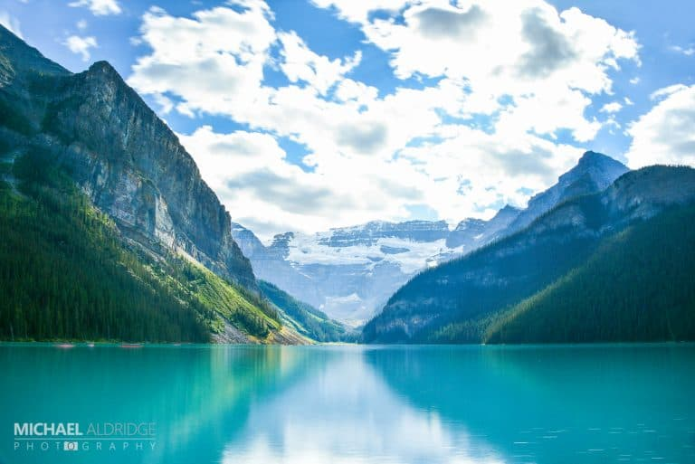 Canada, Lake Louise with neutral density filter and long exposure