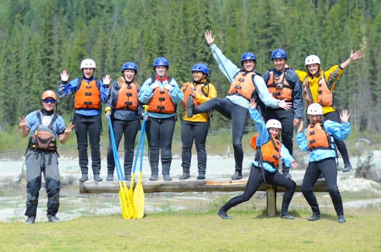 We shared the raft with these lovely people on the Hydra River Rapids in Banff, Canada