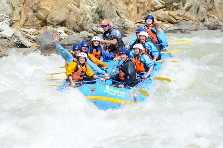 Rafting the Hydra River Rapids in Banff, Canada