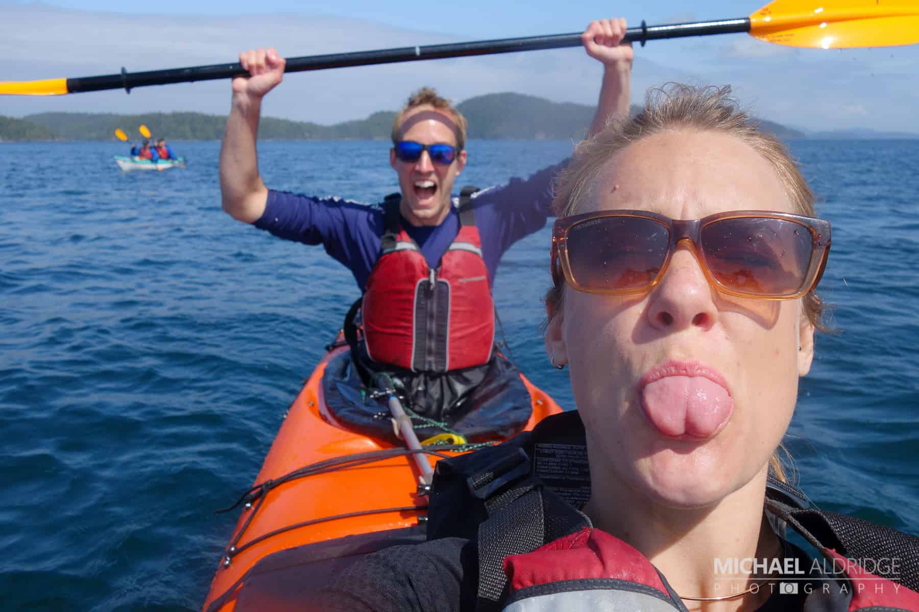 Excited to kayak the Johnston Strait, on the lookout for whales