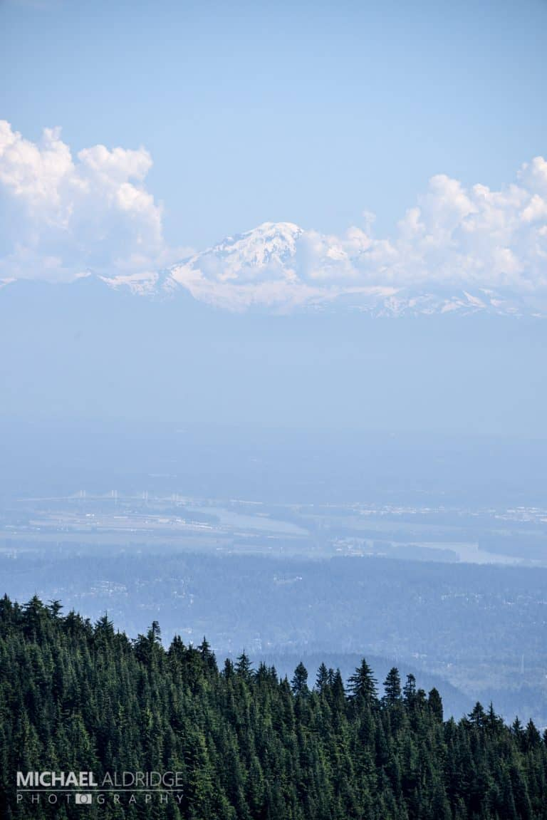 Cloud Mountain - Mount Washington from Grouse Mountain, Canada