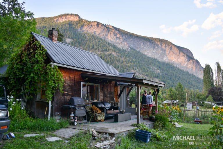 James's cabin in Sunnybrae, BC