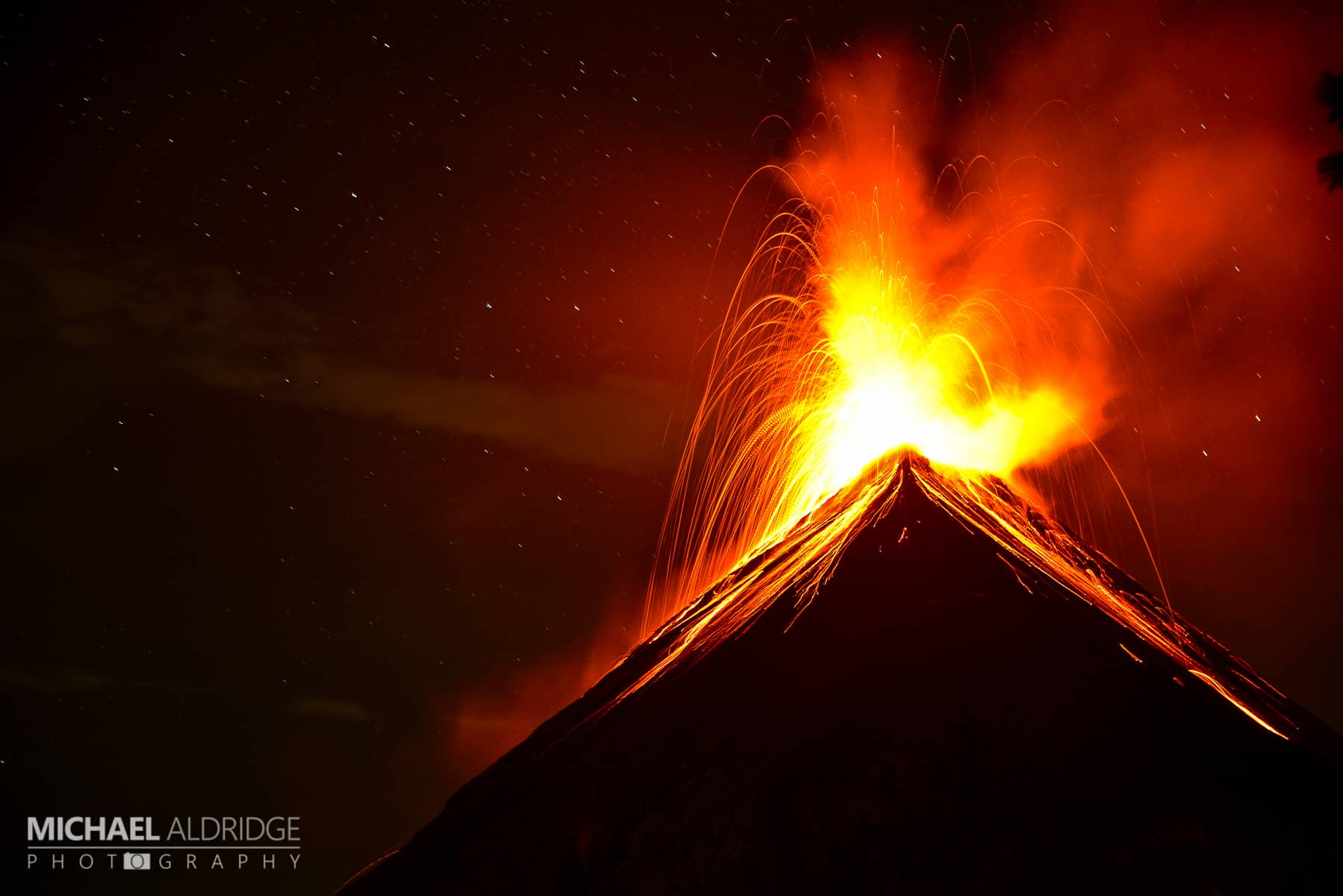 Volcan de Fuego eruption