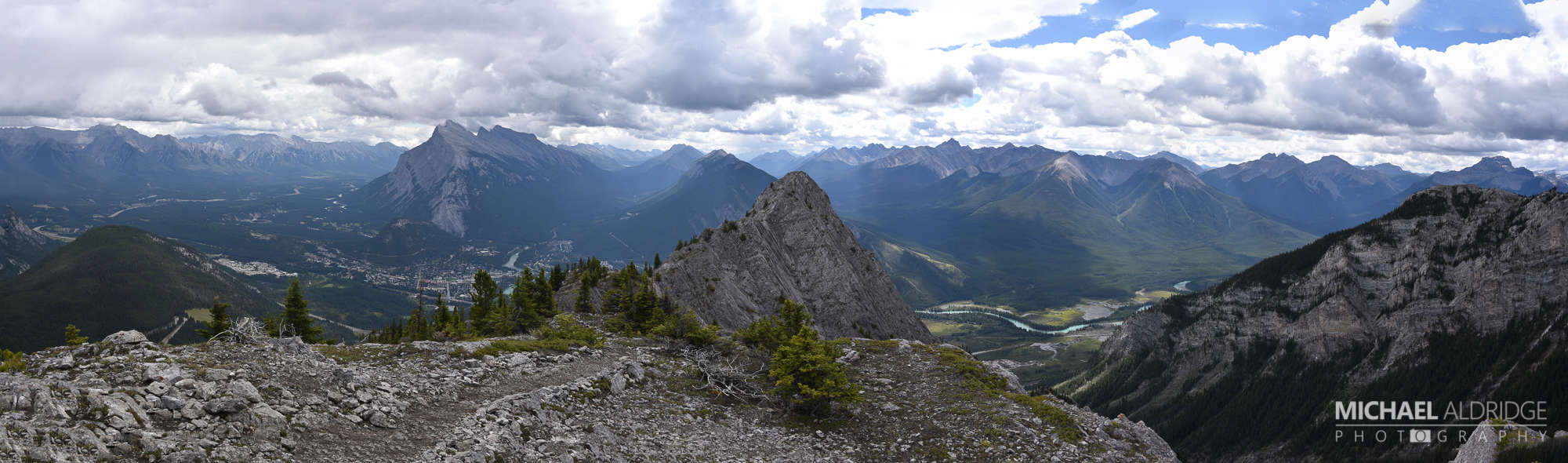 Panoramic view from the top of Mt. Norquay, Banff, Canada