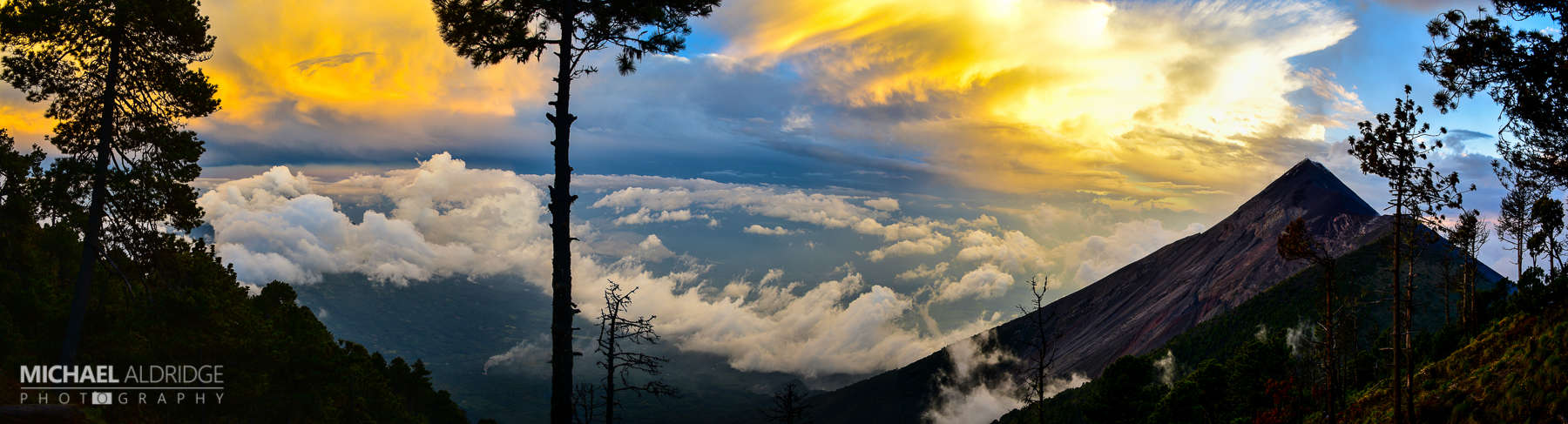 Sunset from Acatenango Volcano