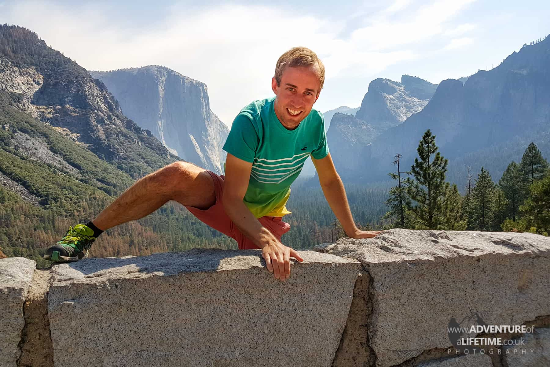 Michael climbing at Yosemite