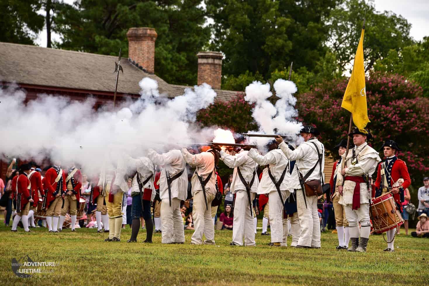Colonial Williamsburg Gunfire