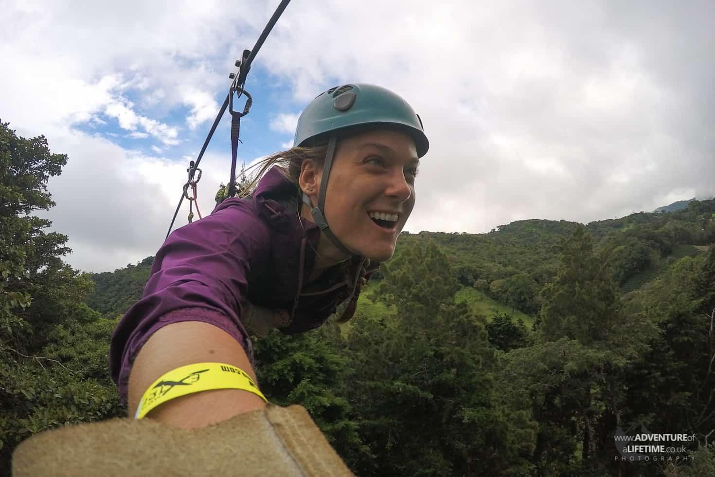 Dora Ziplining in Costa Rica