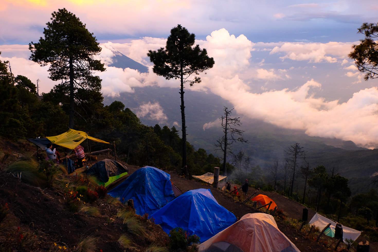 Gilmur's Campsite on Acatenango Volcano