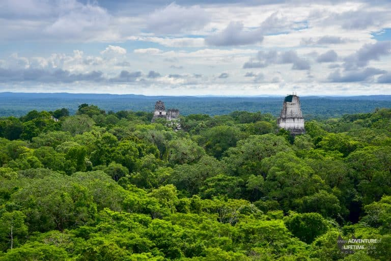 Guatemala - Tikal view over the canopy