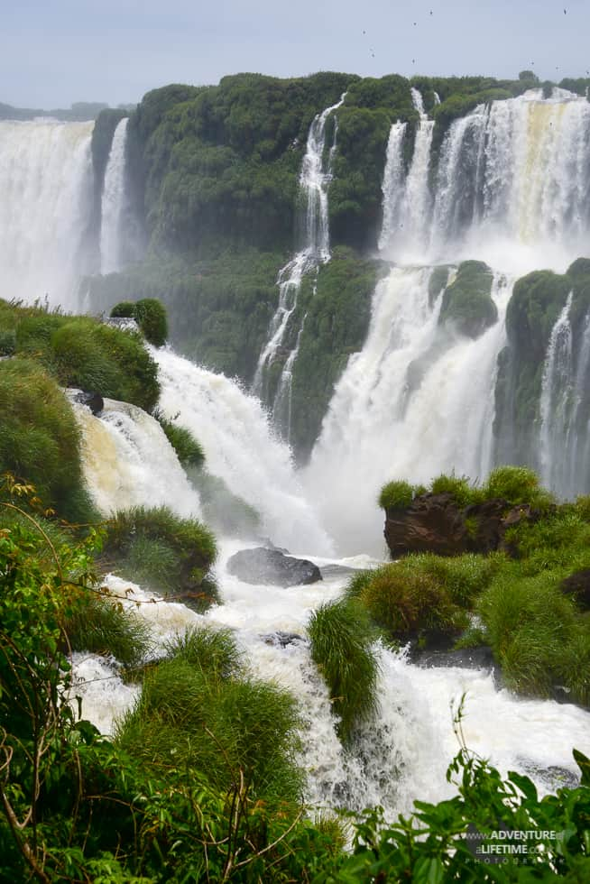 Cascading Waterfalls of Iguazu on the Brazilian Side