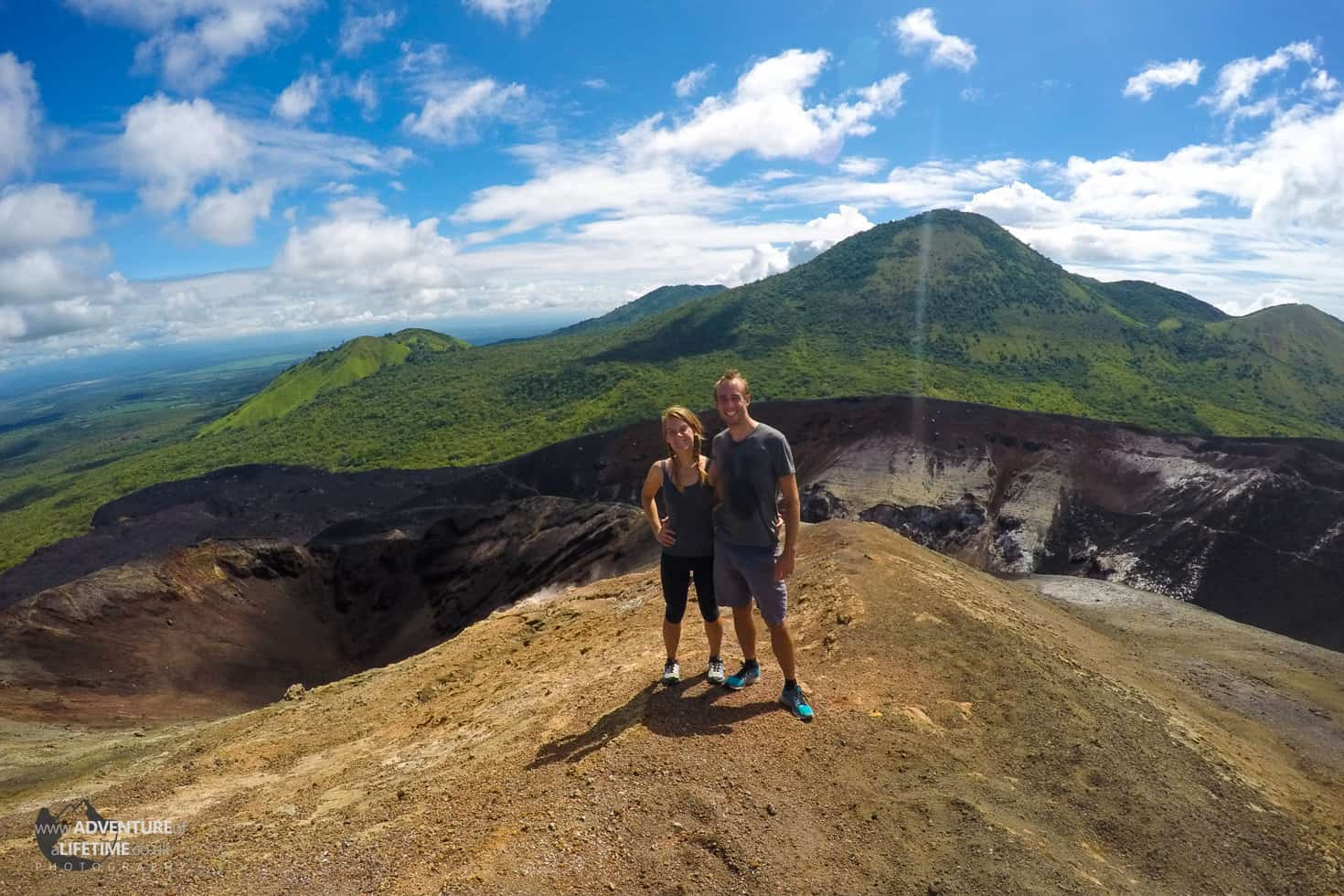 Looking over the crater, Cerro Negro