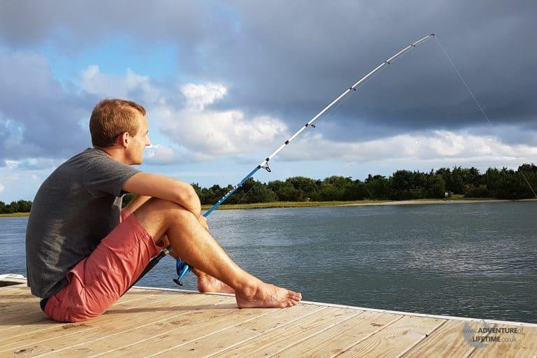 Michael fishing in Beaufort