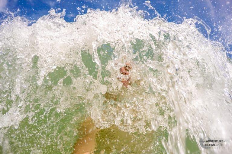 Michael enjoying the waves
