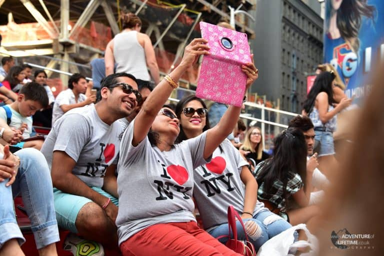 Selfie at Times Square - New York