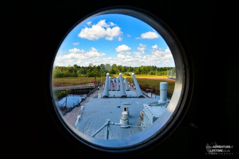 USS North Carolina porthole