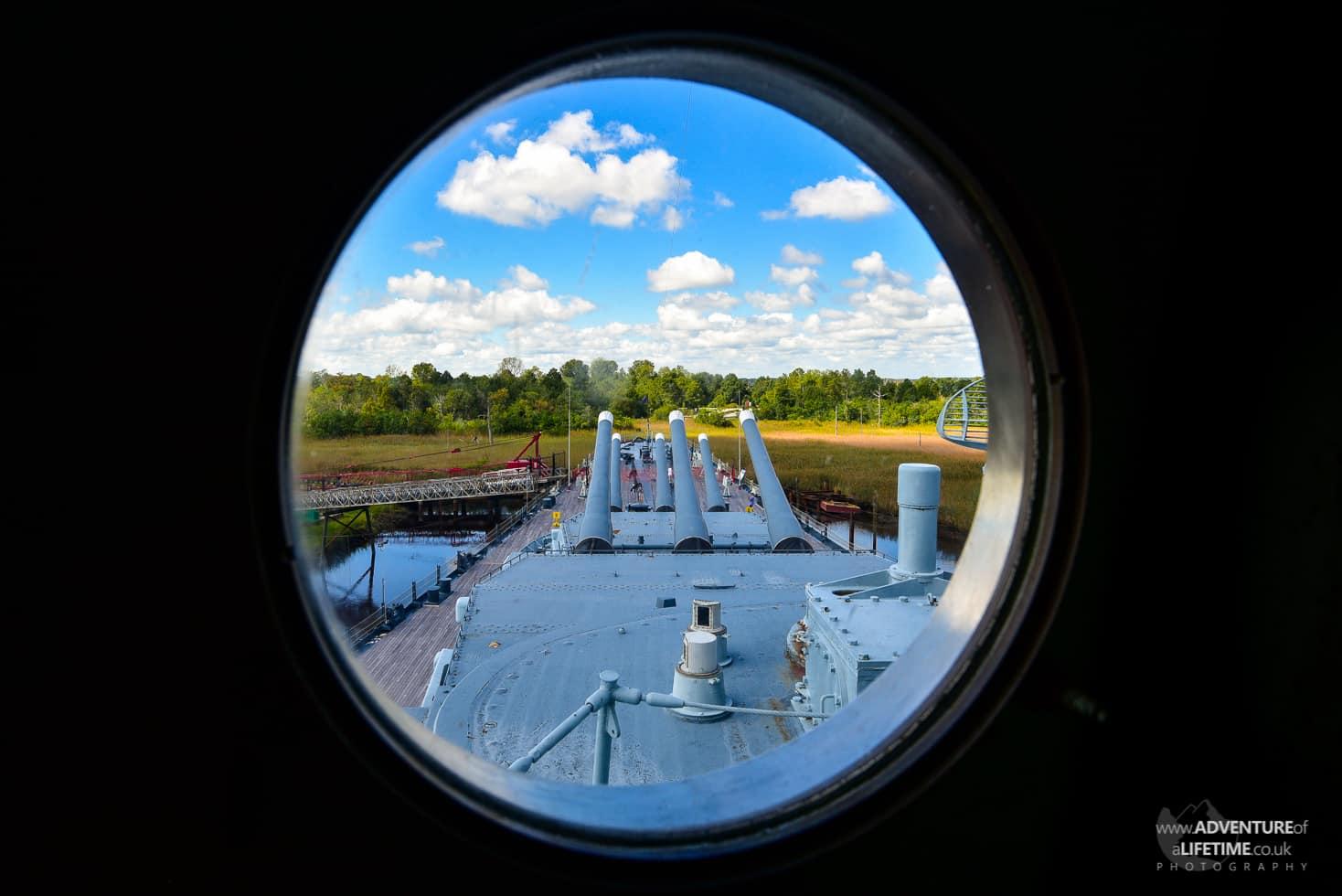 USS North Carolina porthole