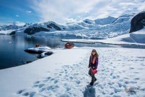 Dora Aldridge at Brown Station Antarctic