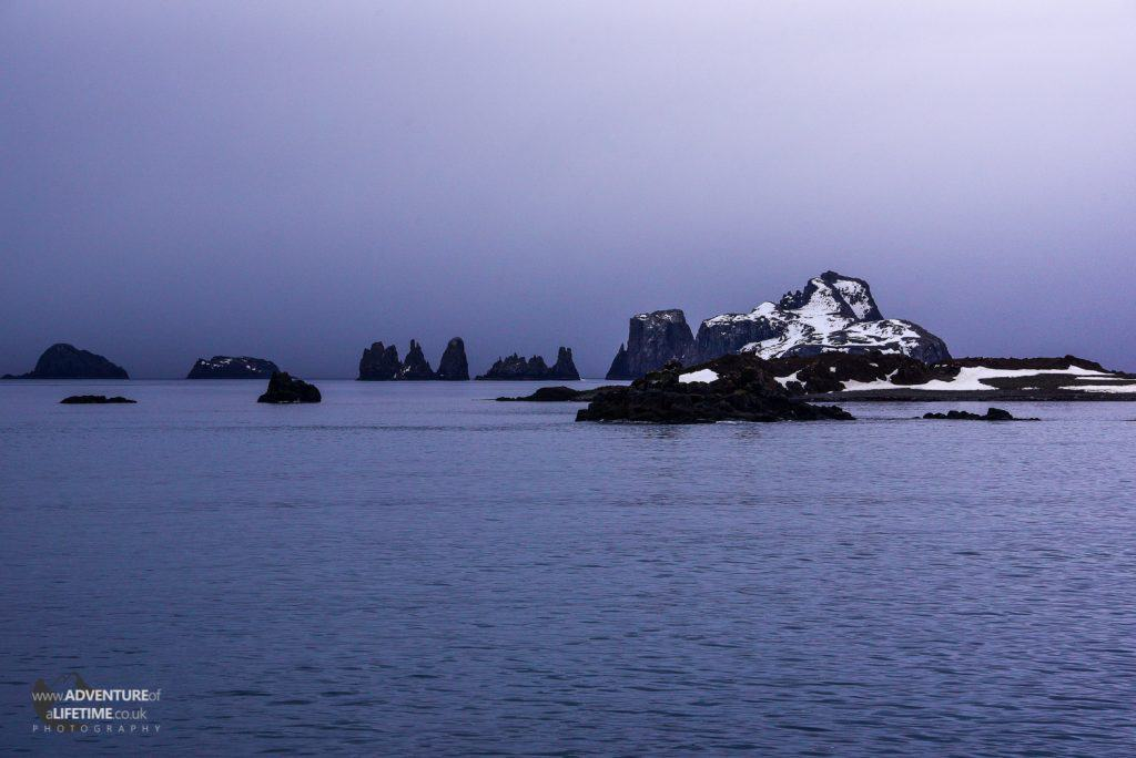 Dusk on Aítcho Islands, Antarctica
