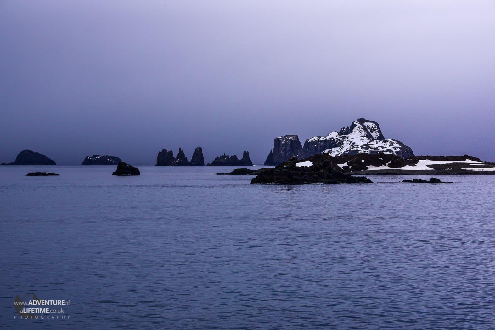 Dusk on Aítcho Islands, Antarctica
