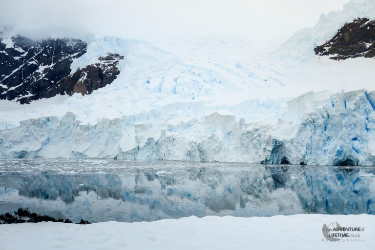 Glacier and Reflections in Andvord Bay