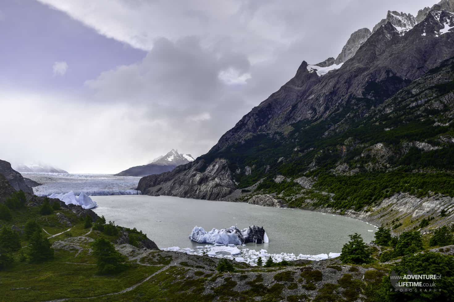 Grey Glacier Mirador in Torres del Paine