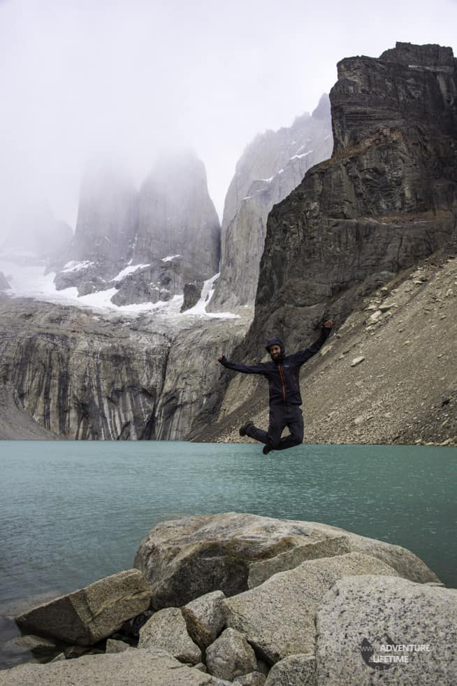 Michael Aldridge at Torres del Paine Towers