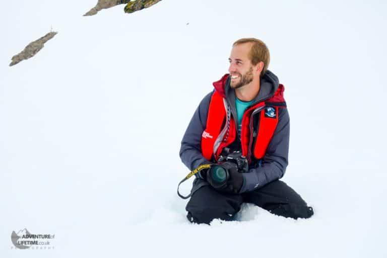 Michael Aldridge in Antarctica