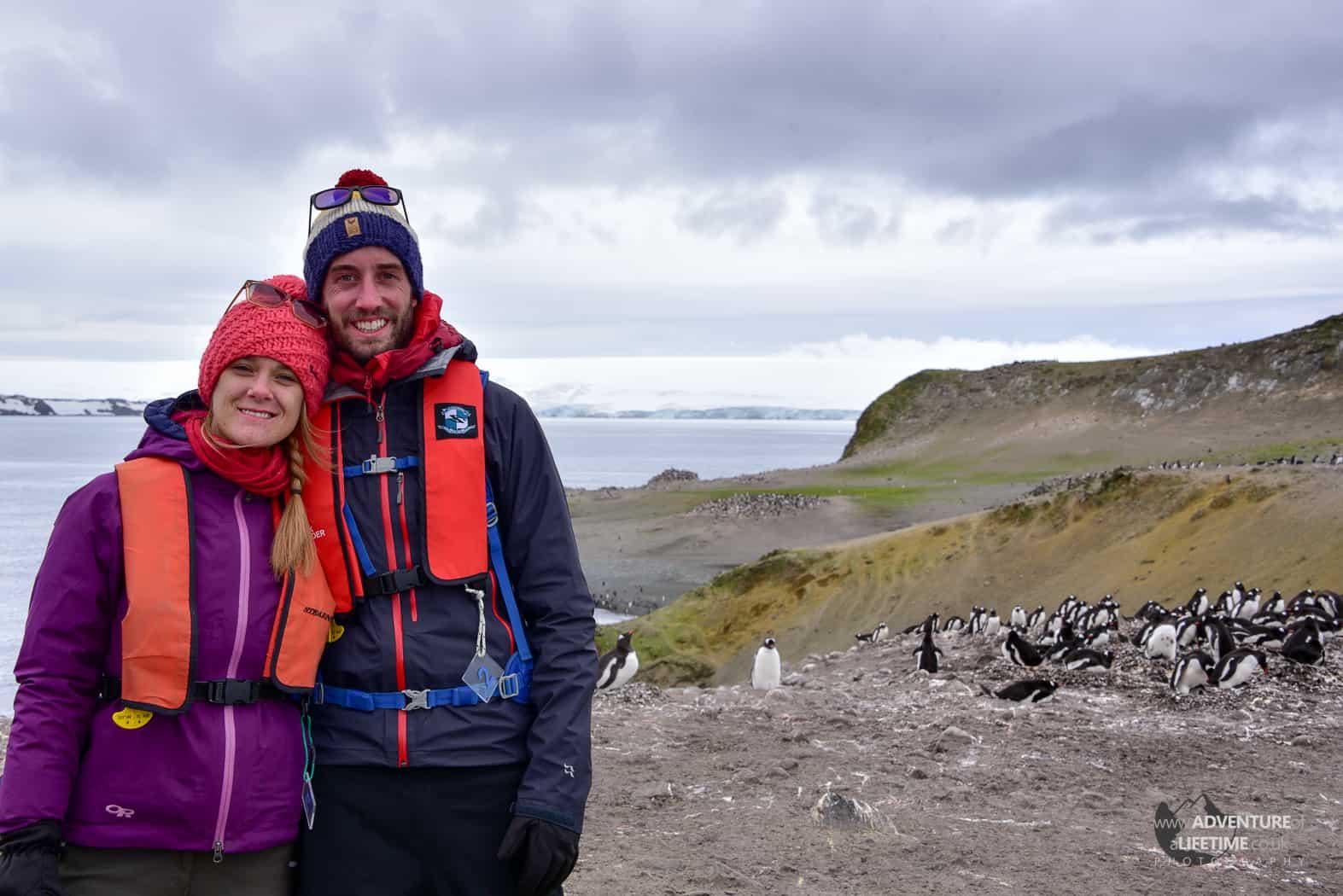 Michael and Dora on Antarctica