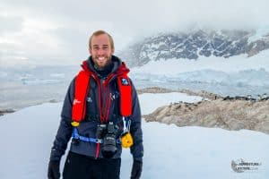 Michael in Andvord Bay, Antarctic