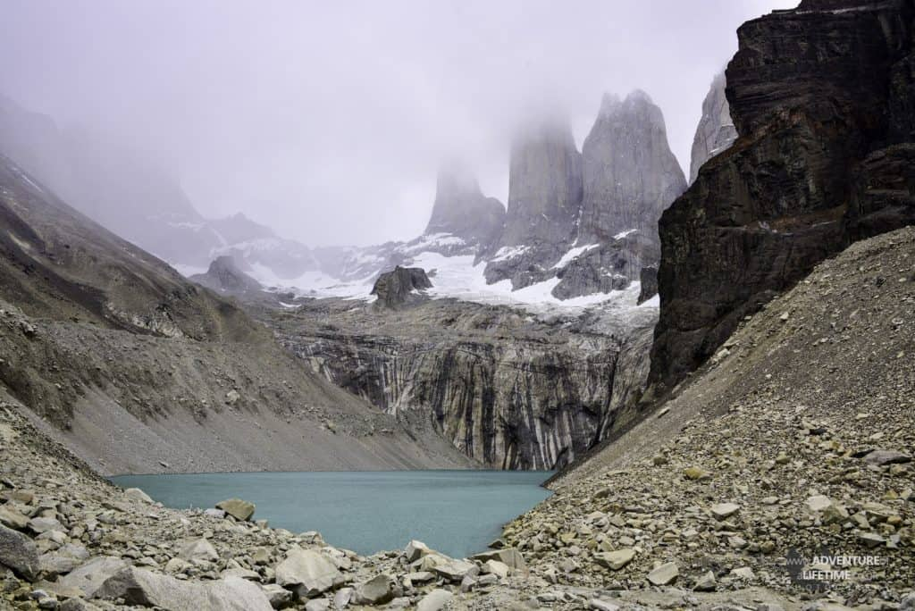 Torres del Paine Towers in the Mist