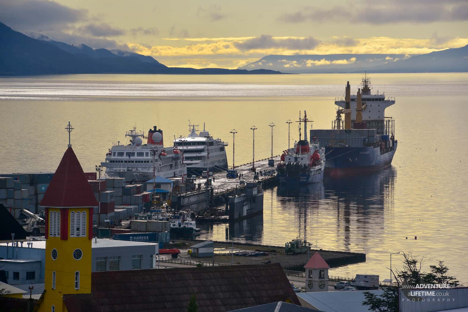 Ushuaia Port in Argentina