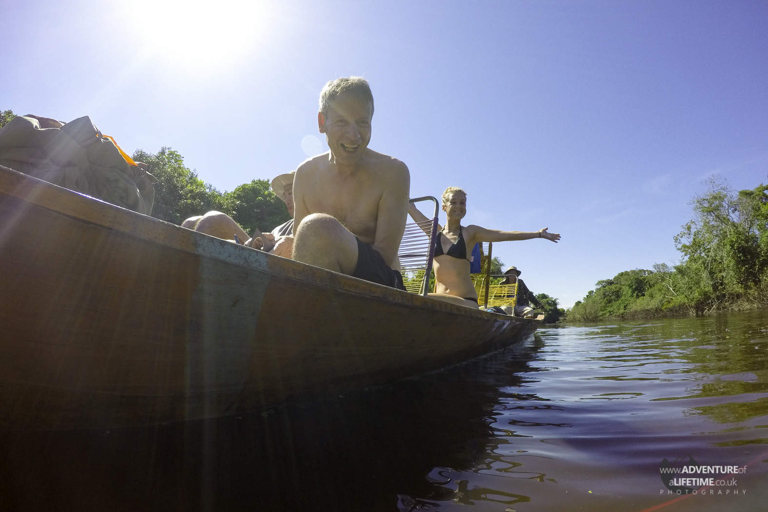 Boating in the Amazon Wetlands