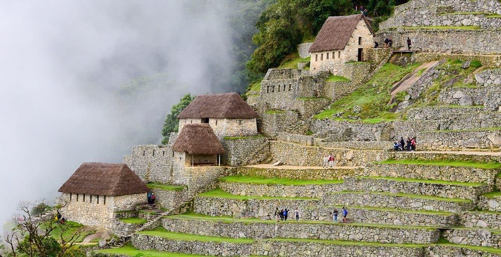 Clouds of Machu Picchu in Peru